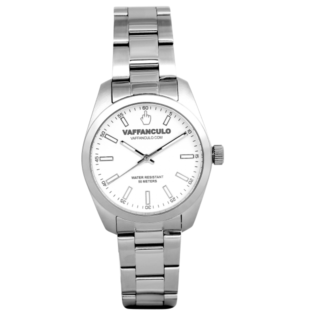 Vaffanculo 36mm White Watch