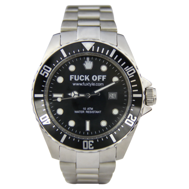 Fuck Off Black Watch 45mm